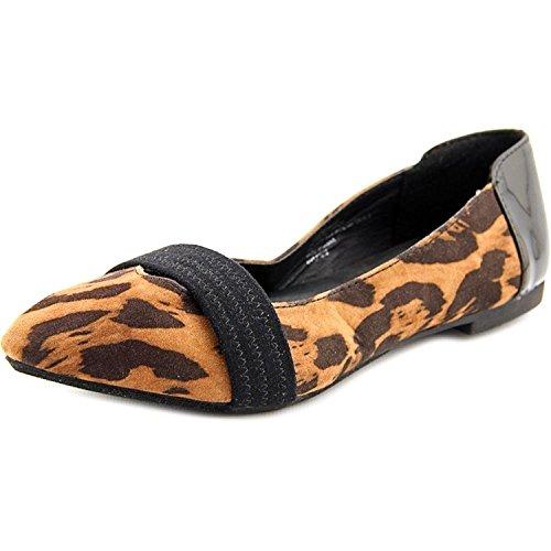 XOXO Womens Idan Suede Pointed Toe Leopard 1P5Hm