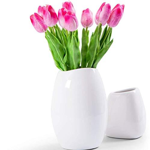 10PCS-Wedding-Decor-PU-Tulip-Artificial-Wedding-Home-Design-Bouquet-Flowers-darkpink