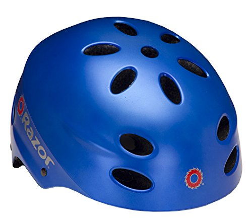 Razor Youth Helmet - Razor V-17 Child Multi-Sport Helmet, Satin Blue