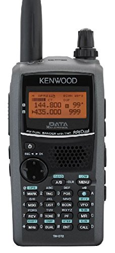 Kenwood TH-D72A 144/440 MHz Handheld Amateur Transceiver w/ 1200/9600 BPS Packet TNC, Built-in GPS, Echolink Ready, 5 Watts