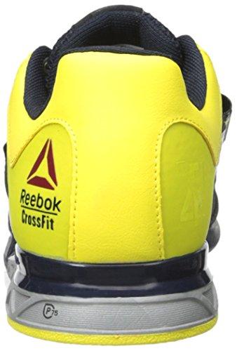 Reebok Männer R CrossFit Lifter 2.0 Trainingsschuh Reebok Marine / Stinger Gelb / Metallic Silber