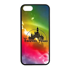 DIY Design Cute Forever Young Disney Castle-Protective TPU Cover Case for iPhone 5/5S (Laser Technology)case Perfect as Christmas gift05
