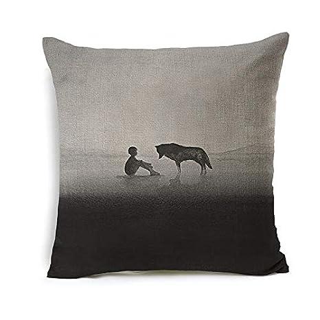 Blue Gray 18 x 18 Kess InHouse Heidi Jennings Hats Off to You Throw Pillow