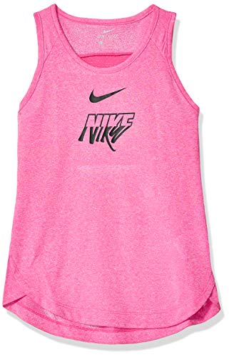 NIKE Girl's Trophy Breathe Gx Tank, Laser Fuchsia/Bordeaux, Small (Tank Tops Girls Nike)