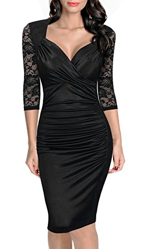 Kleid schwarz spitze elegant
