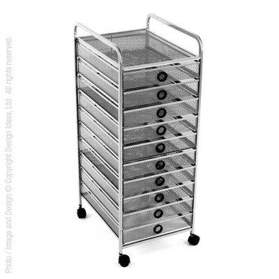 Review Design Ideas 3419764-DI 3419764-DI Digit 10 Drawer Cart-Black,Black, By Design Ideas by Design Ideas