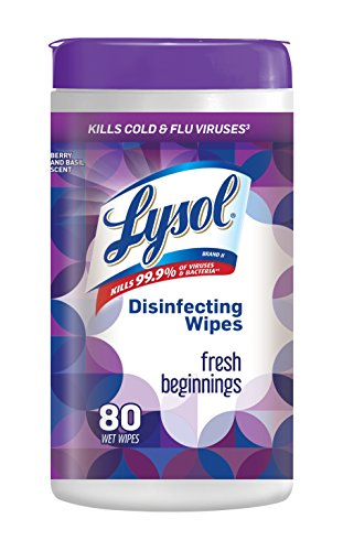 Lysol Disinfecting Wipes, Fresh Beginnings, 80 Count