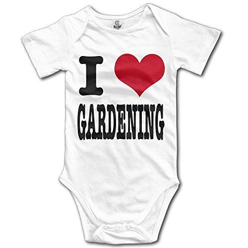Edepon Baby I Heart Gardening Cotton Infant Onesie Baby Onesie ()