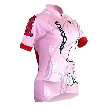 0c21d7958 Alien SportsWear Womens Snoopy Short Sleeve Cycling Jersey Bike Shirt Size  XXS To XXXXXL  Amazon.ca  Sports   Outdoors
