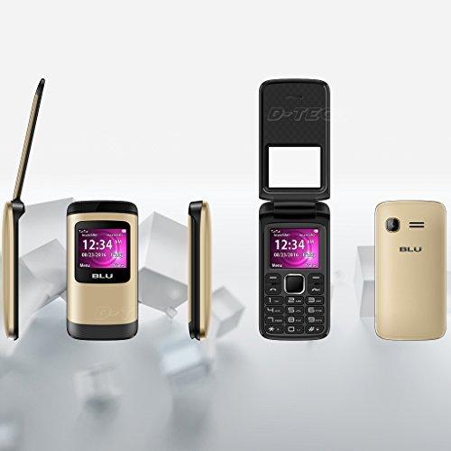 BLU Zoey Flex Z130 Factory Unlocked GSM Phone FM Radio Dual SIM MP3/4 Player New (Gold)