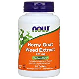 NOW Foods Horny Goat Weed Extract 750mg, 90 Tablets