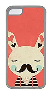 iPhone 5C Case, Customized Protective Soft TPU Clear Case for iphone 5C - Rabbit Cover