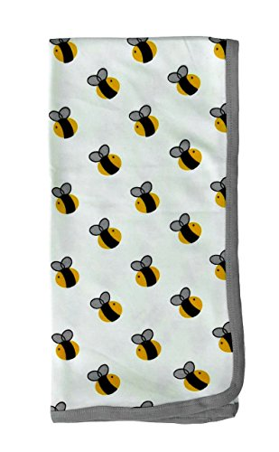 Cat & Dogma Organic Baby Swaddle Blanket 35X35 - Bee