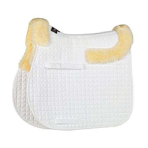 (Caldene Half Lined GP Sheepskin Saddle Cloth (Cob) (White))