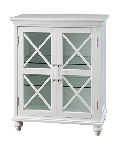 Blue Furniture Ridge (Elegant Home Fashions Blue Ridge Two Door Floor Cabinet in White)