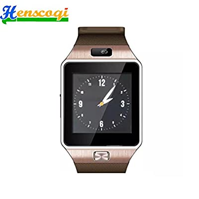 Henscoqi DZ09 Smart Watch with Bluetooth & Camera for Android Phones(Gold)