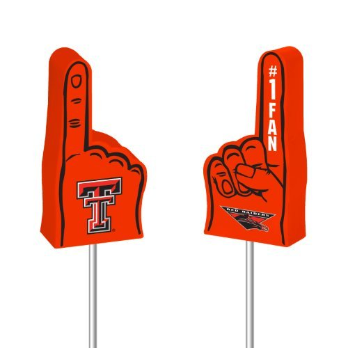 NCAA Texas Tech Red Raiders Foam Finger Antenna Topper, Model: FNFF260801, Spoorting Goods Shop Rico