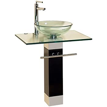 23 inch modern bathroom vanities tempred glass design vessel sink - Bathroom Designs Vessel Sinks