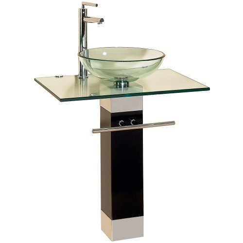 23 Inch Modern Bathroom Vanities Tempred Glass Design Vessel Sink (Vessel Sink Vanity Set)