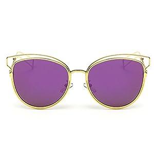 Heartisan Personlized Hollow Metal Cat Eye Frame Full Rim Sunglasses for Womens C4