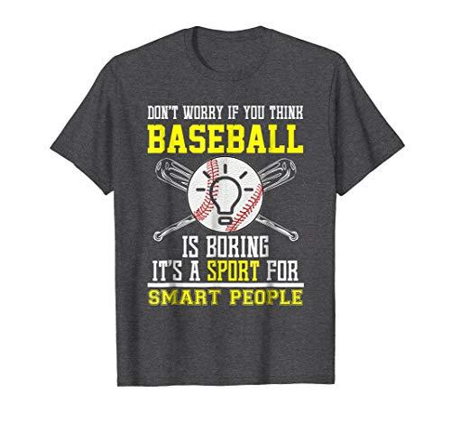 Baseball T-shirt Sayings - Mens Funny Baseball Sports For Smart People T-shirt Quote Saying 3XL Dark Heather