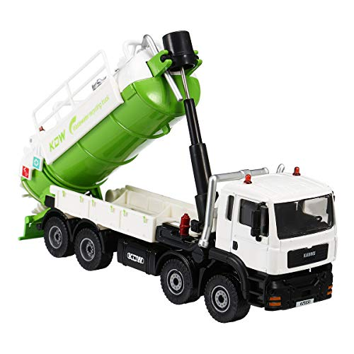 ZUINIUBI Diecast Model Vacuum Sewage Waste Water Suction Truck Model Toy for Kids 1:50 Scale Suitable for Building Models, Sand Table Model, Model Trains, Scene Layout, Outdoor Landscape