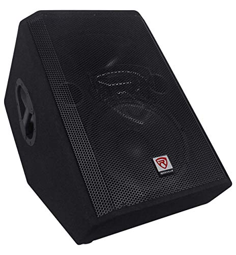 - Rockville 1000 Watt 2-Way Powered Active Stage Floor Monitor Speaker, Black, 12 inch (RSM12A)