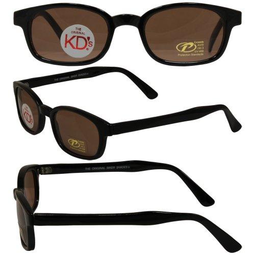 New - Pacific Coast Sunglasses Inc. - Original KD's Biker Sunglasses with Dark Brown - Wears Sunglasses Teller Jax