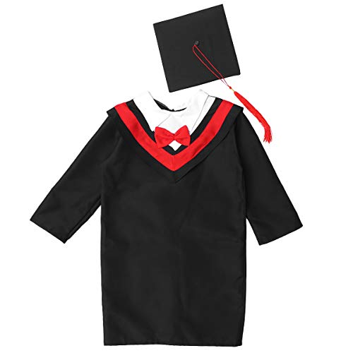 FUNZZY Children Graduation Costume Grad Gown and Cap