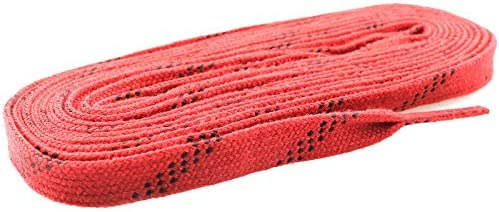 Ruiwaer 1Pair Waxed Skate Lace Sport Shoelaces for Sports Roller Derby Skates Hockey Skate, 120 Inches Long, Dark Red