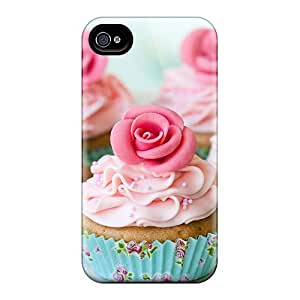 New Style Wade-cases Hard Case Cover For Iphone 4/4s- Cake With Roses by icecream design
