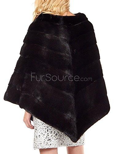 Women's Black Mink Fur Poncho by Frr (Image #1)