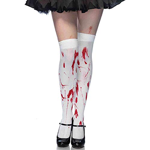 Leg Avenue Womens Bloody Zombie Thigh Highs -