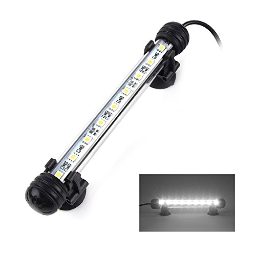 Smiful LED Aquarium Light, Fish Tank Light Submersible Underwater Crystal Glass LEDs Lights, 7.5