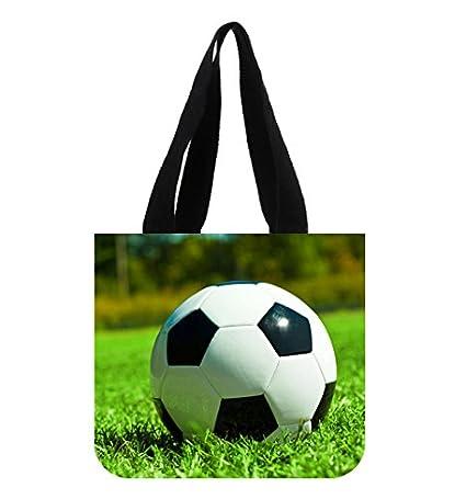 Deportes de balón de fútbol verde hierba bolso lienzo bolsa de la ...