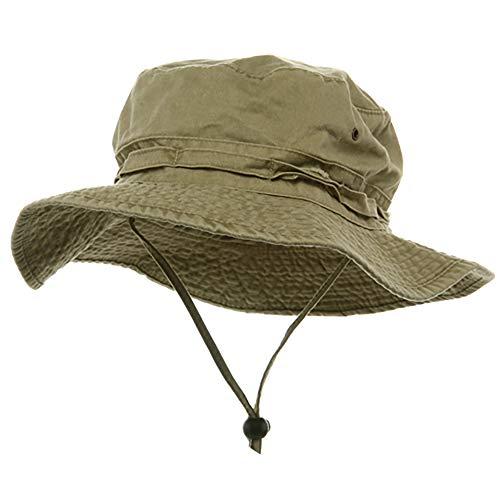 (e4Hats.com Extra Big Size Fishing Hats-Khaki XL-2XL )