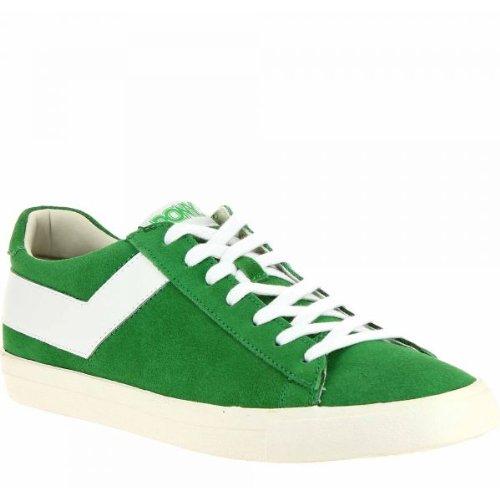 Pony - Zapatillas de deporte de cuero para hombre verde verde 43: Amazon.es: Zapatos y complementos