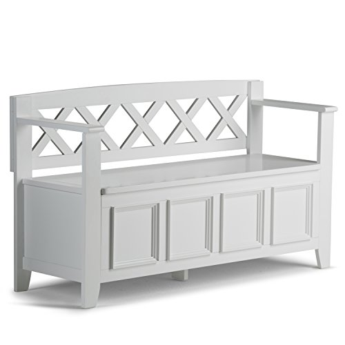Simpli Home Amherst Entryway Storage Bench, White by Simpli Home