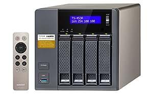 QNAP TS-453A - Dispositivo de Almacenamiento en Red NAS (Intel Celeron N3150, 4 GB RAM, 4 x USB 3.0, SATA II/III, Gigabit), Negro