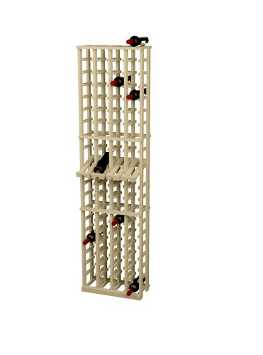 - Wine Cellar Innovations Rustic Pine Wine Rack with Display Row for 80 Wine Bottles, 4 Column, Unstained