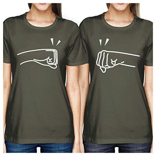 Talla Dark Printing Fist Grey de mujer para 365 corta Pound Camiseta manga pHWw04