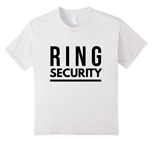 Price comparison product image Kids Ring Security T-shirt For Ring Bearer 6 White