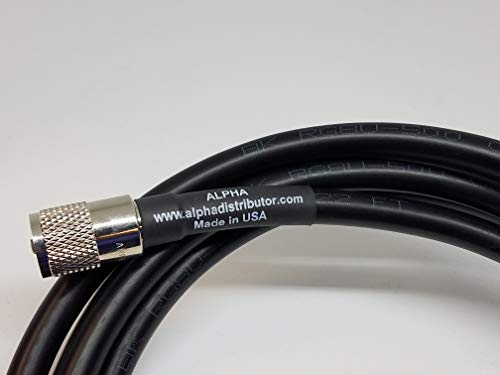 Vhf Cable Coax - 3ft RG8u Coax Cb Ham Radio Cable with AMPHENOL PL259s attached