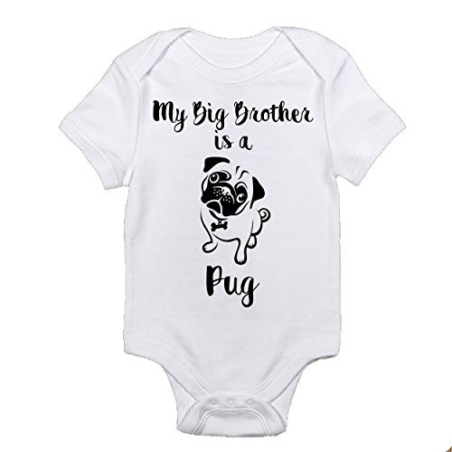 My Big Brother is a Pug Funny Romper