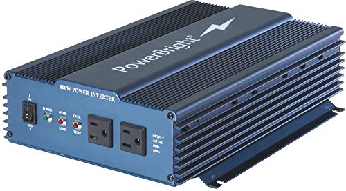 PowerBright APS600-24 24-Volt 600W Pure Sine Wave Power Inverter, 600W Continuous Power, 650W (20 min.) Continuous Power, 1000W Peak Load Power Rate, Anodized Aluminum Case