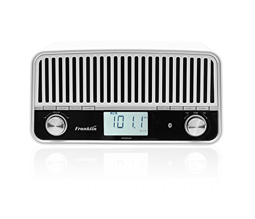 Franklin FR-1 AM/FM Table Radio with Stereo Speakers and Bluetooth