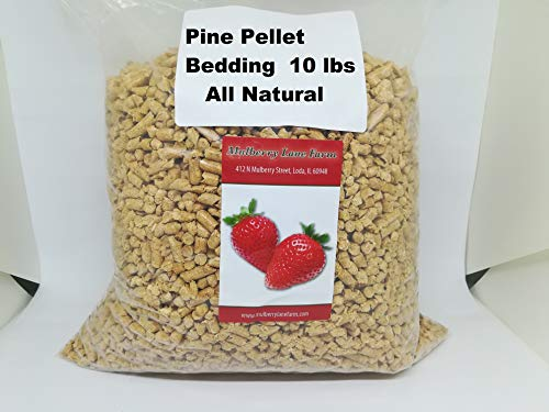 Pine Pellet Bedding, 10 lbs (ten pounds) All Natural, Great For All Your Large or Small Animal Bedding Needs, Earth Friendly, Dust Free. BULK. ()