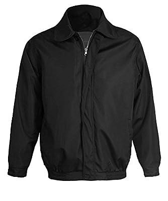 Maximos Men's Golf Jacket Microfiber Wind Water Resistant Collared Black
