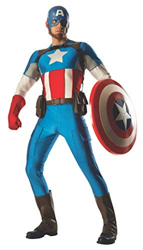Rubie's Men's Marvel Universe Grand Heritage Collector Captain America Costume, Multi, Standard -