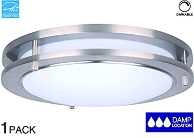 LIT-PaTH 10/15 Inch LED Ceiling Light, LED Flush Mount, Dimmable